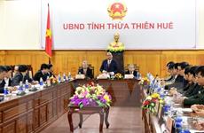 Thủ tướng kiểm tra công tác chuẩn bị Tết Nguyên đán Kỷ Hợi tại Huế