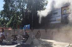 Tiền Giang: Cửa hàng xe máy bốc cháy giữa trưa, nhiều tài sản cháy rụi