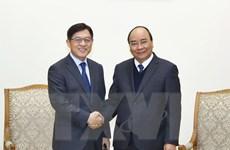 Thủ tướng Nguyễn Xuân Phúc tiếp Chủ tịch Tập đoàn Samsung