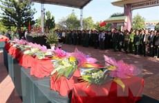 Truy điệu và an táng 11 hài cốt liệt sỹ tại nghĩa trang Vị Xuyên
