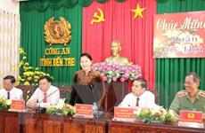Chủ tịch Quốc hội Nguyễn Thị Kim Ngân thăm, chúc Tết tại Bến Tre