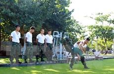 Chiến sỹ Trường Sa rèn luyện nâng cao thể lực, sẵn sàng chiến đấu