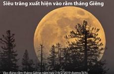 Siêu trăng kéo dài và rõ nhất trong năm xuất hiện vào rằm tháng Giêng