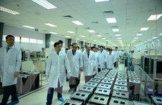Phái đoàn cấp cao Triều Tiên đến thăm tổ hợp nghiên cứu của Viettel