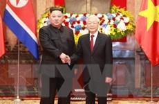Tổng Bí thư, Chủ tịch nước đón, hội đàm với Chủ tịch Triều Tiên