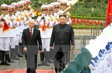Hình ảnh Lễ đón Chủ tịch Triều Tiên Kim Jong-un thăm Việt Nam