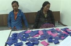 Bắt 2 đối tượng quốc tịch Lào vận chuyển 12.000 viên ma túy tổng hợp