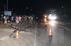 Bình Phước: Xe máy đi nhanh đâm vào xe ben, 2 người tử vong