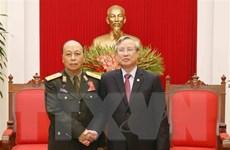 Thường trực Ban Bí thư tiếp Đoàn đại biểu Chính trị cấp cao QĐND Lào