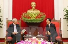 Trưởng ban Tuyên giáo Trung ương tiếp Phó Thủ tướng Singapore