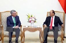 Thủ tướng Nguyễn Xuân Phúc tiếp Tổng Giám đốc điều hành Tập đoàn VISA