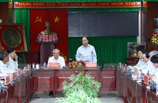 Thủ tướng Nguyễn Xuân Phúc làm việc với lãnh đạo tỉnh Sóc Trăng