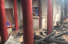 Hà Nội: Chùa Thanh Sơn bị cháy rụi, thiệt hại lên đến 700 triệu đồng