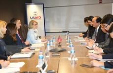 Việt Nam và USAID tiếp tục thúc đẩy hợp tác trong nhiều lĩnh vực