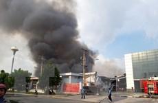 Bình Dương: Đang cháy lớn tại Khu công nghiệp Mỹ Phước 2