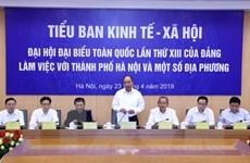 Thủ tướng Chính phủ chủ trì cuộc làm việc của Tiểu ban Kinh tế-Xã hội