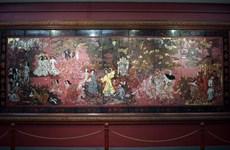 Bức tranh 'Vườn xuân Trung Nam Bắc' bị hư hỏng do công tác vệ sinh?