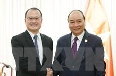 Thủ tướng tiếp một số nhà đầu tư bên lề 'Vành đai và Con đường'