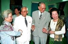 Lãnh đạo cấp cao Lào ghi sổ tang nguyên Chủ tịch nước Lê Đức Anh