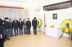 Lễ viếng, mở sổ tang nguyên Chủ tịch nước Lê Đức Anh tại Séc và Italy