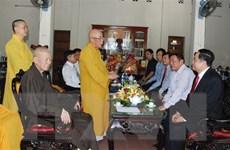 Chủ tịch Mặt trận Tổ quốc chúc mừng Lễ Phật đản tại tỉnh Quảng Trị