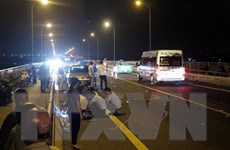 Xe máy chở 3 phóng nhanh gây tai nạn, đại úy công an tử vong