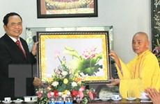 Chủ tịch Mặt trận Tổ quốc chúc mừng Đại lễ Phật đản tại Thừa Thiên-Huế