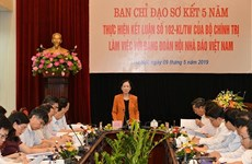 Trưởng Ban Dân vận TW làm việc với Đảng đoàn Hội Nhà báo Việt Nam