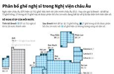 [Infographics] Phân bổ ghế nghị sỹ trong Nghị viện châu Âu