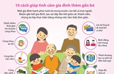 [Infographics] 10 cách giúp tình cảm gia đình thêm gắn bó