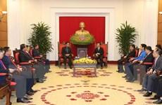 Trưởng Ban Tuyên giáo TW tiếp Đoàn đại biểu Đoàn Thanh niên NDCM Lào