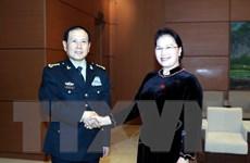Chủ tịch Quốc hội tiếp Bộ trưởng Bộ Quốc phòng Trung Quốc