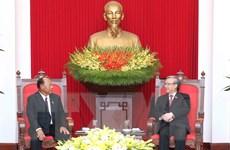 Thường trực Ban Bí thư tiếp Đoàn đại biểu cấp cao Quốc hội Campuchia
