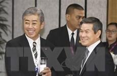 Bộ trưởng Quốc phòng Hàn Quốc, Mỹ, Nhật Bản hội đàm