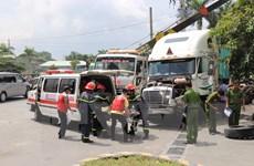 Thông tin thêm vụ container tông xe con làm chết 5 người ở Tây Ninh