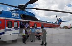 Dùng trực thăng cấp cứu chiến sỹ đột ngột trở bệnh tại Trường Sa