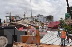 Hiện trường vụ sập nhà 7 tầng gây nhiều thương vong ở Campuchia