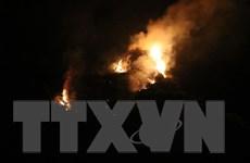 Cháy rừng bùng phát trong rừng đặc dụng thuộc quần thể Tràng An