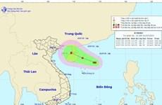 Vùng áp thấp đã mạnh lên thành áp thấp nhiệt đới, gió giật cấp 8