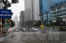 Vùng áp thấp suy yếu, các tỉnh Bắc Bộ có mưa lớn trên diện rộng