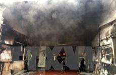 Hải Dương: Khẩn trương dập tắt cháy tại Công ty Dược phẩm Syntech