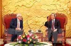 Trưởng Ban Kinh tế TW tiếp Tổng Giám đốc Tổ chức Tài chính Quốc tế