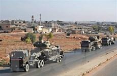 Cảnh đoàn xe quân sự của Thổ Nhĩ Kỳ bị tấn công tại Syria