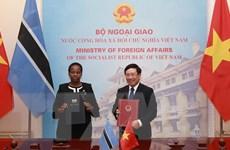 Việt Nam-Botswana đưa quan hệ hợp tác song phương đi vào chiều sâu