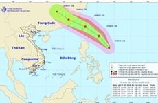 Áp thấp nhiệt đới đã mạnh lên thành bão Podul, sức gió mạnh cấp 8