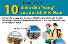 Báo Anh gợi ý 10 điểm đến 'vàng' của du lịch Việt Nam
