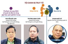 [Infographics] Thông tin về 14 bị can trong vụ Mobifone mua AVG