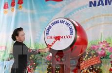 Đồng Tháp: Chủ tịch Quốc hội dự khai giảng tại trường THPT Tháp Mười
