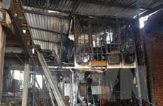 Bình Dương: Cháy cửa hàng cho thuê vật liệu xây dựng nghi do chập điện