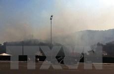 Quảng Ninh: Huy động lực lượng chữa cháy rừng tại đồi Hùng Thắng